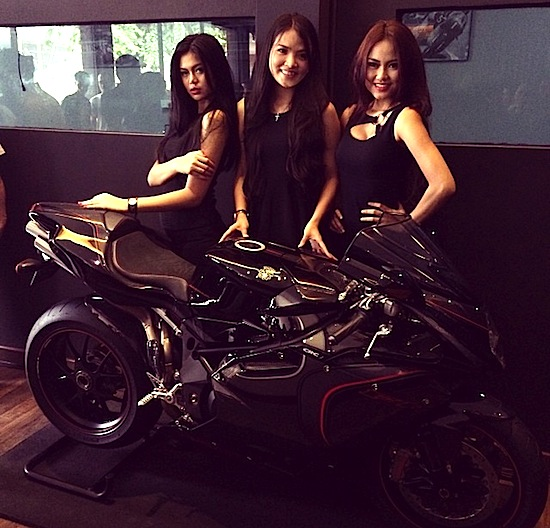 MV Agusta F4 CC with charlie Angels