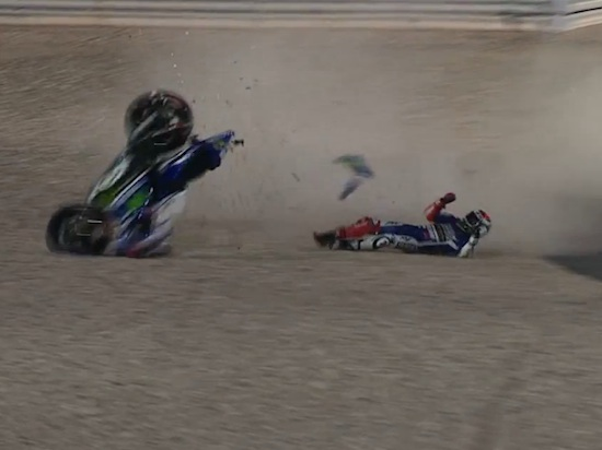 Lorenzo crash Losail