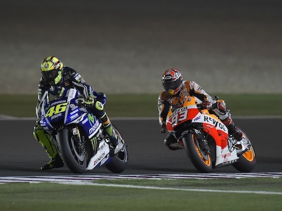 Battle Rossi vs Marquez