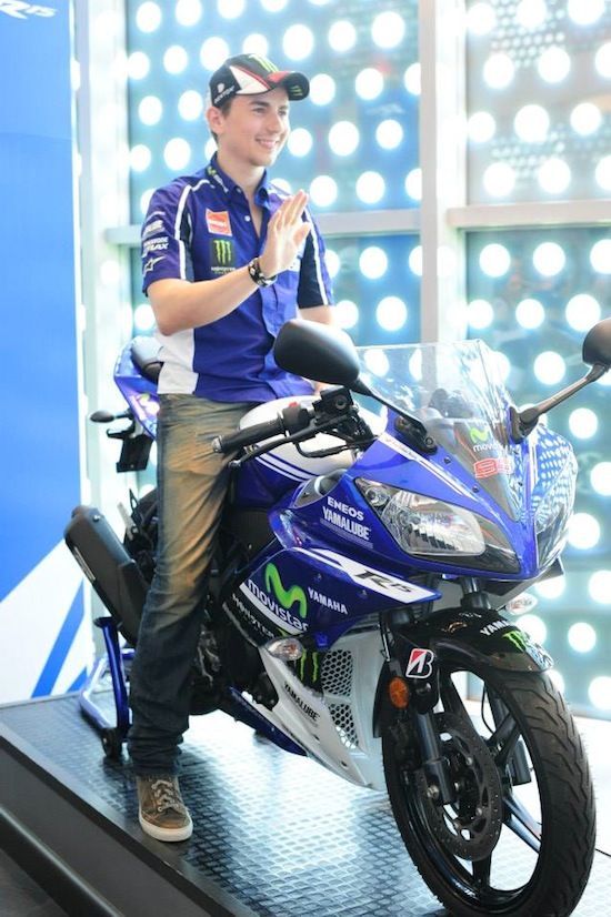 Lorenzo with Yamaha R15
