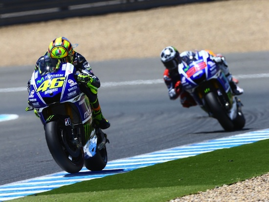 Rossi vs lorenzo jerez