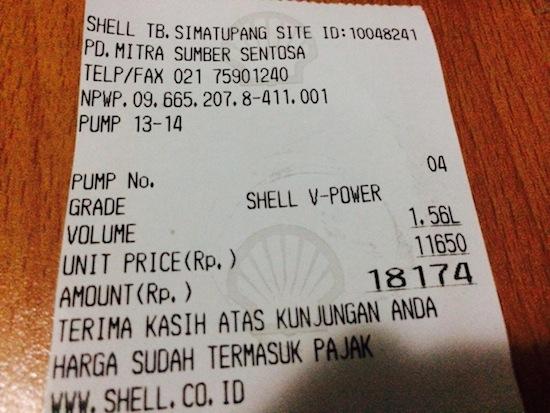 Konsumsi BBM R25