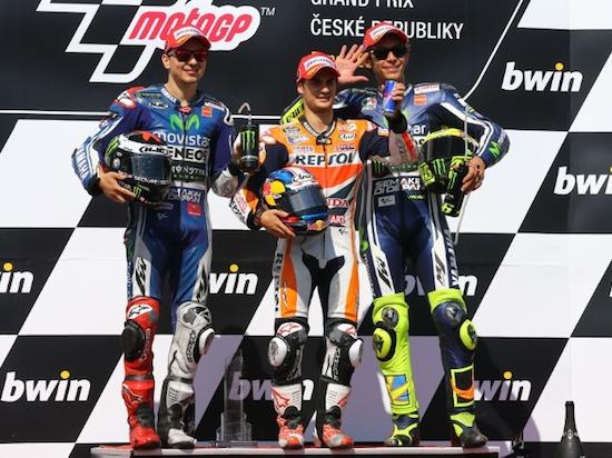 Rossi podium Brno