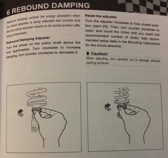 rebound damping