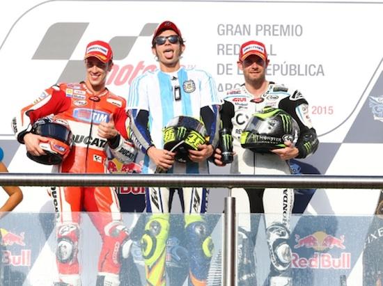 Rossi podium