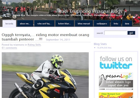 Triatmono Blog wordpress