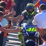 Walau tidak bisa jadi Juara,… sambutan buat Rossi begitu meriaaah …!!!