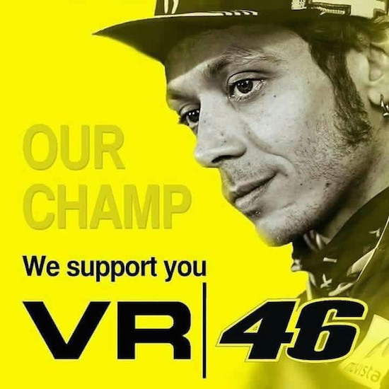 Vale our champ