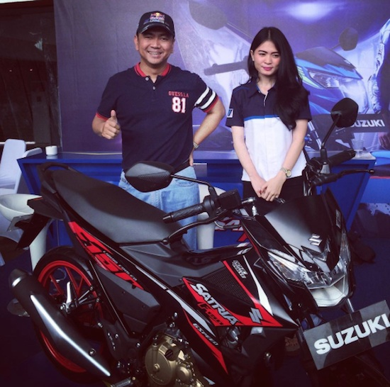 Mas Tri with Satria F150