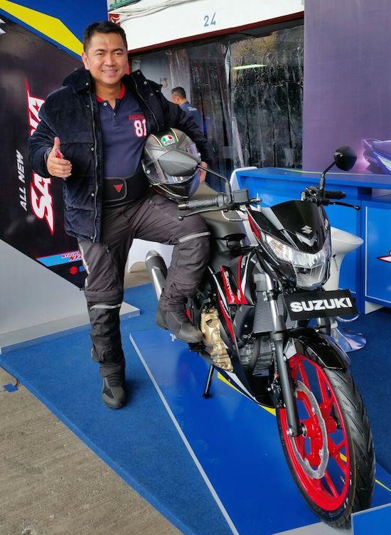 Mas Tri with Suzuki Satria F150 Injeksi