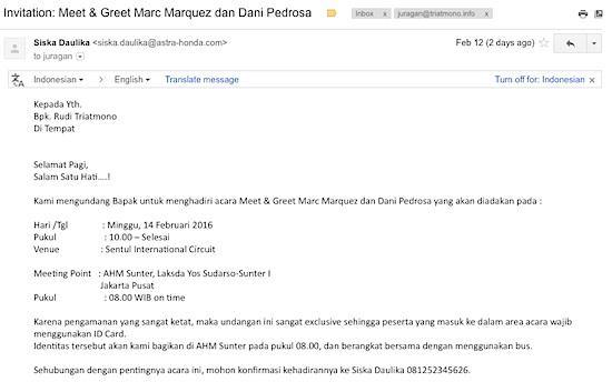 email undangan marquez