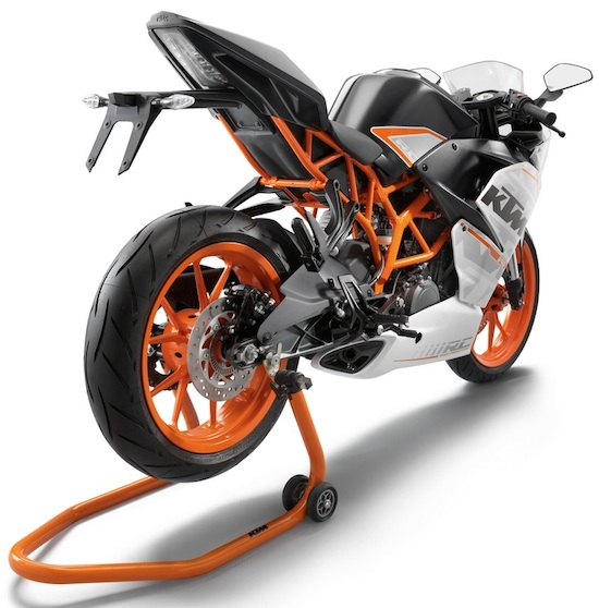 KTM RC200 rear view