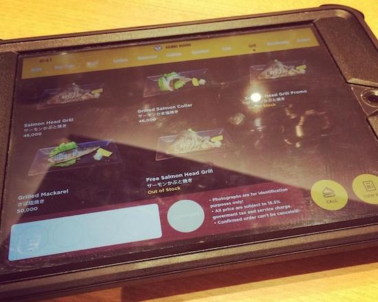 Genki Sushi tablet