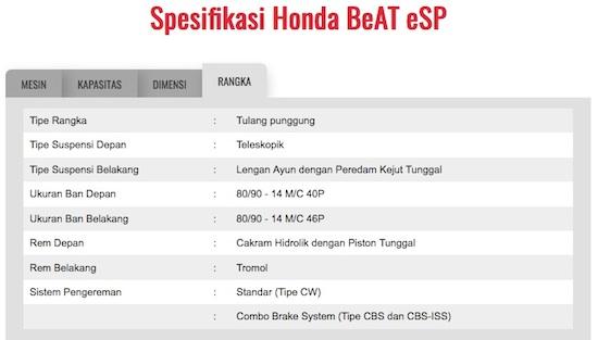 Spec ban Beat ESP