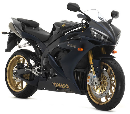 Yamaha R1 black and gold