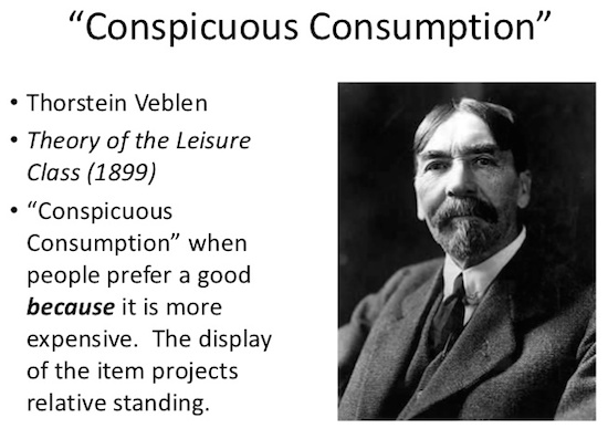 Conspicuous Consumption Veblen