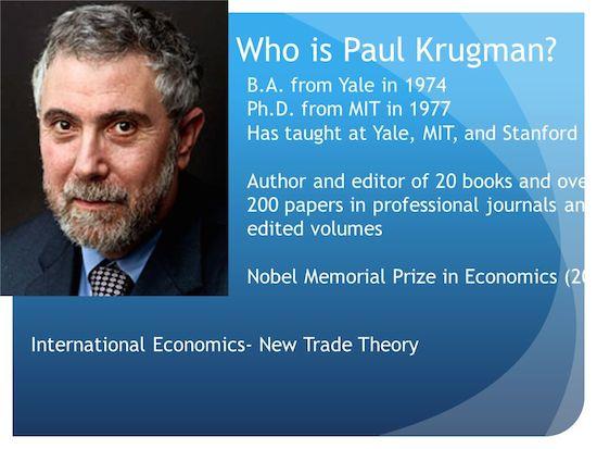Paul Krugman bio