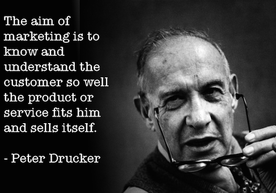 Peter Drucker knowing customer