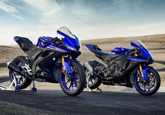 Yamaha R125 and Yamaha R1