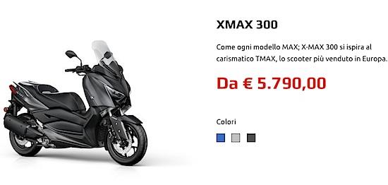 Harga Yamaha XMax 300 Europe
