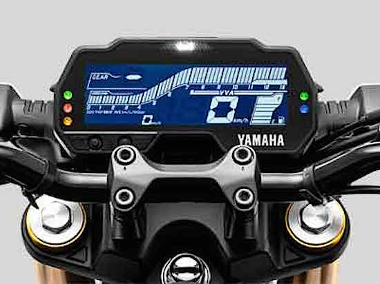 Yamaha MT-15 panel indicator