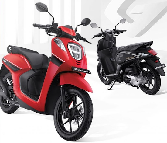 Honda Genio 110 red black