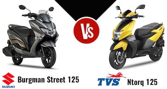 Suzuki Burgman vs TVS NTorq