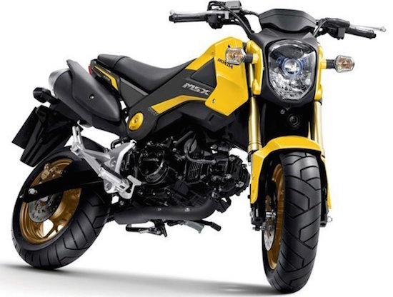 Honda MSX 125 yellow