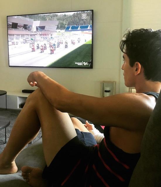 Marquez nonton MotoGP