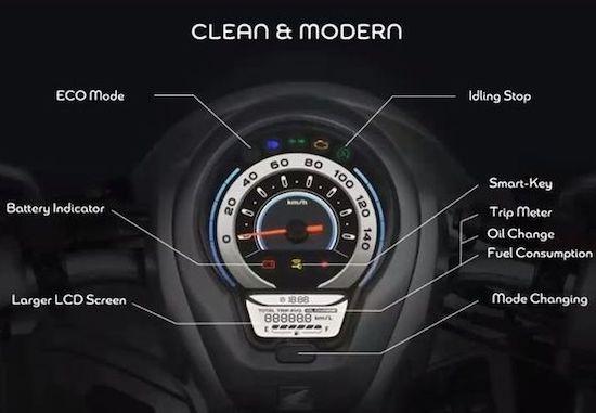 New Honda Scoopy panel indicator