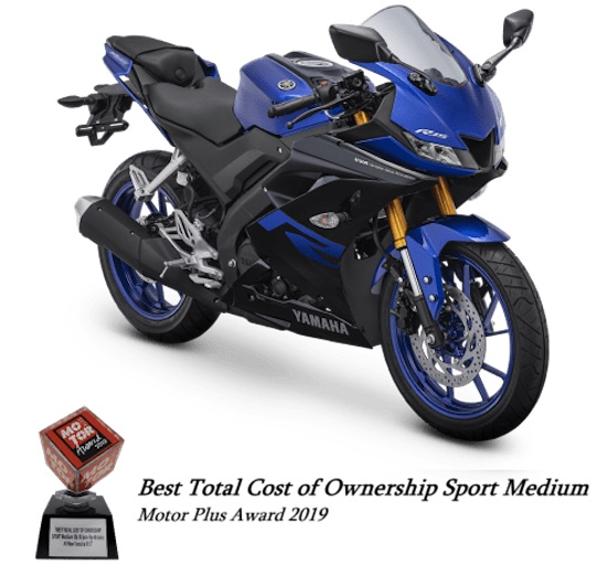 Yamaha R15 blue
