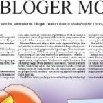 Berita di Media Indonesia,… Eksistensi Blogger Motor …!!!