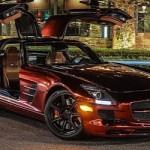 Pengaruh Iron Man,… Mercedes Benz SLS AMG jiaaan kinclong dan kereeen banget …!!!